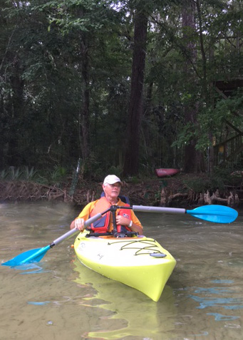 Photo of David Jones Kayaking with one-armed paddle