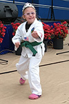 Shiloh doing tae kwon do