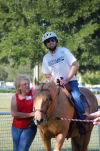 Photo of a Horseback rider with a Disability